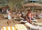 Фото туриста. Я, дочка, пляж и пальмы