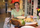 Фото туриста. Ужин в рыбном ресторане