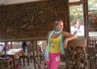 Фото туриста. Дерево тик