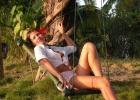 Фото туриста. Качели на острове